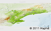 Physical Panoramic Map of Tarragona, lighten