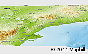Physical Panoramic Map of Tarragona