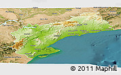 Physical Panoramic Map of Tarragona, satellite outside