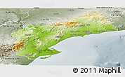 Physical Panoramic Map of Tarragona, semi-desaturated
