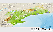 Physical Panoramic Map of Tarragona, shaded relief outside