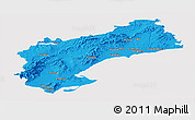 Political Panoramic Map of Tarragona, cropped outside