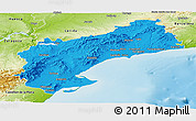 Political Panoramic Map of Tarragona, physical outside