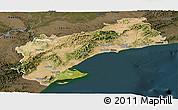 Satellite Panoramic Map of Tarragona, darken