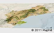 Satellite Panoramic Map of Tarragona, lighten