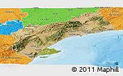 Satellite Panoramic Map of Tarragona, political outside