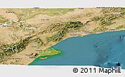 Satellite Panoramic Map of Tarragona
