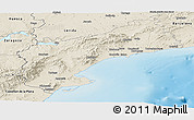 Shaded Relief Panoramic Map of Tarragona