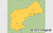 Savanna Style Simple Map of Tarragona, cropped outside
