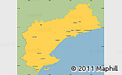 Savanna Style Simple Map of Tarragona, single color outside
