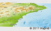 Physical Panoramic Map of Alicante
