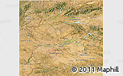 Satellite 3D Map of Extremadura