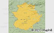 Savanna Style 3D Map of Extremadura