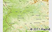 Physical Map of Badajoz