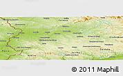Physical Panoramic Map of Badajoz