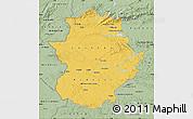 Savanna Style Map of Extremadura