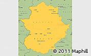 Savanna Style Simple Map of Extremadura