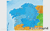 Political Shades 3D Map of Galicia