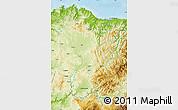 Physical Map of Lugo