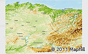 Physical Panoramic Map of Lugo
