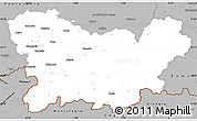 Gray Simple Map of Orense