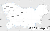 Silver Style Simple Map of Orense, single color outside