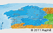 Political Shades Panoramic Map of Galicia