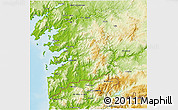 Physical 3D Map of Pontevedra