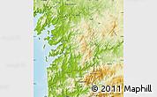 Physical Map of Pontevedra