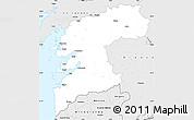 Silver Style Simple Map of Pontevedra