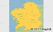 Savanna Style Simple Map of Galicia