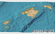 Satellite 3D Map of Islas Baleares