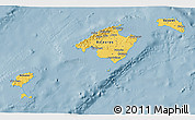 Savanna Style 3D Map of Islas Baleares