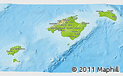 Physical 3D Map of Baleares
