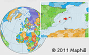 Political Location Map of Islas Baleares