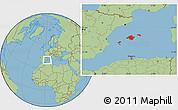 Savanna Style Location Map of Islas Baleares