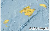 Savanna Style Map of Islas Baleares