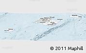 Gray Panoramic Map of Islas Baleares