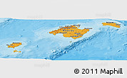 Political Panoramic Map of Islas Baleares