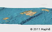 Satellite Panoramic Map of Islas Baleares