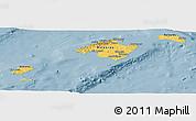 Savanna Style Panoramic Map of Islas Baleares