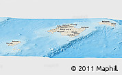 Shaded Relief Panoramic Map of Islas Baleares