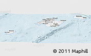 Silver Style Panoramic Map of Islas Baleares