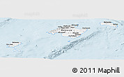 Silver Style Panoramic Map of Islas Baleares, single color outside