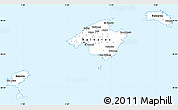 Gray Simple Map of Islas Baleares