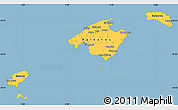 Savanna Style Simple Map of Islas Baleares