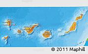 Political Shades 3D Map of Islas Canarias