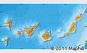 Political Shades Map of Islas Canarias