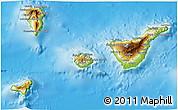 Physical 3D Map of Santa Cruz de Tenerife