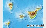 Physical Map of Santa Cruz de Tenerife
